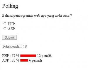 Polling Dengan PHP